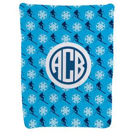 Skiing Baby Blanket - Skiing Pattern