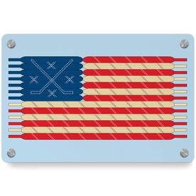 Hockey Metal Wall Art Panel - Laces Flag