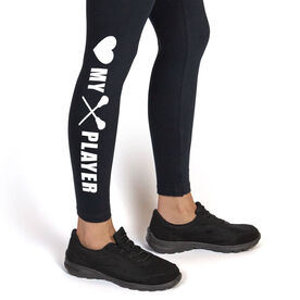 Lacrosse Leggings Heart My Lacrosse Player