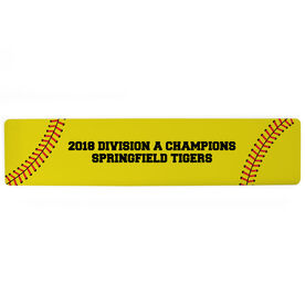 "Softball Aluminum Room Sign - Your Text Softball (4""x18"")"