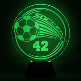 Soccer Acrylic LED Lamp Corner Kick With Number