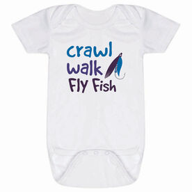 Fly Fishing Baby One-Piece - Crawl Walk Fly Fish