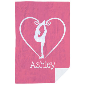 Figure Skating Premium Blanket - Personalized Heart Skater