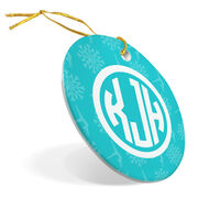 Gymnastics Porcelain Ornament Personalized Monogram
