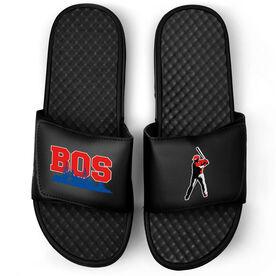 Baseball Black Slide Sandals - Boston Baseball