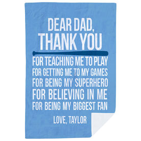 Softball Premium Blanket - Dear Dad