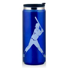 Stainless Steel Travel Mug Softball Batter