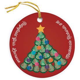 Girls Lacrosse Porcelain Ornament Multi Lacrosse Stick Head Christmas Tree