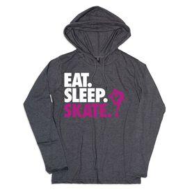 Women's Figure Skating Lightweight Hoodie - Eat Sleep Skate