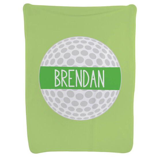 Golf Baby Blanket - Personalized Golf Ball