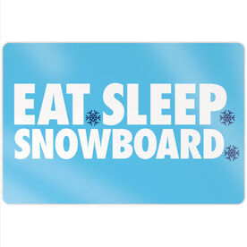 "Snowboarding 18"" X 12"" Aluminum Room Sign - Eat Sleep Snowboard"