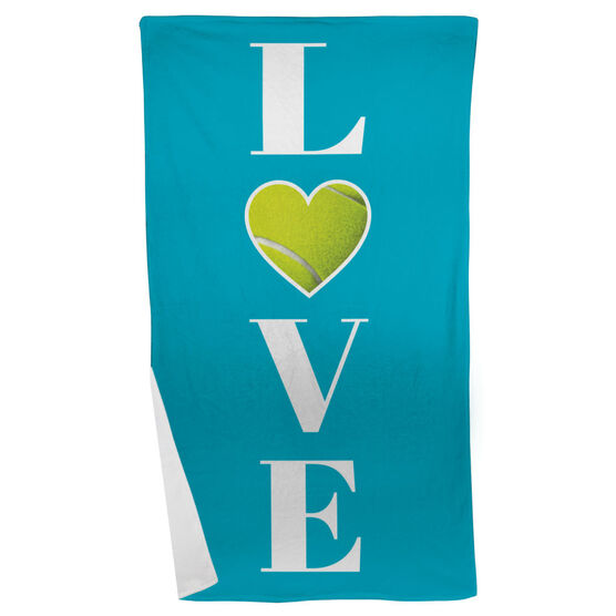 Tennis Beach Towel LOVE with Ball