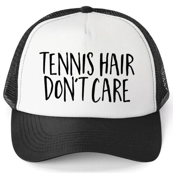 e397e3a5 Tennis Trucker Hat - Tennis Hair Don't Care   ChalkTalkSPORTS