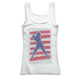 Softball Vintage Fitted Tank Top - USA Batter