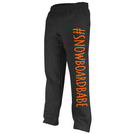 Snowboarding Fleece Sweatpants #SnowboardBabe