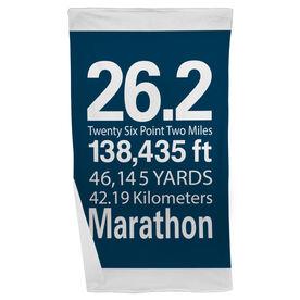 Running Beach Towel 26.2 Math Miles