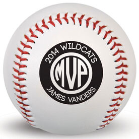 Custom Baseball MVP Monogram With Name