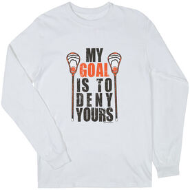 Guys Lacrosse Long Sleeve T-Shirt - My Goal Lacrosse