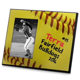 Softball Photo Frame Softball Stitches Sweetspot
