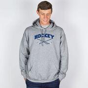 Hockey Hooded Sweatshirt - Hockey Crossed Sticks Logo