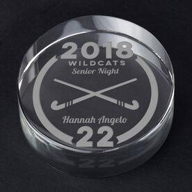 Field Hockey Personalized Engraved Crystal Gift - Custom Team Award