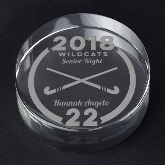 Field Hockey Personalized Engraved Crystal Gift - Custom Team Award