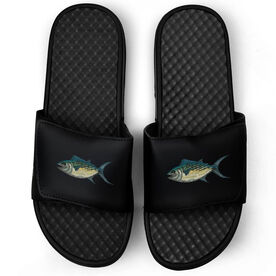 Fly Fishing Black Slide Sandals - Gone Fishing