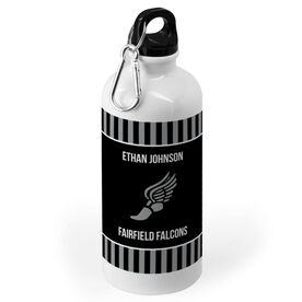 Track and Field 20 oz. Stainless Steel Water Bottle - Team with Winged Foot