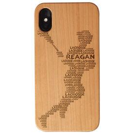 Girls Lacrosse Engraved Wood IPhone® Case - Words