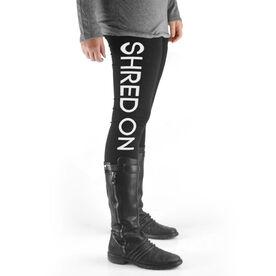Snowboarding High Print Leggings Shred On