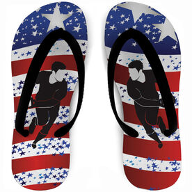 Rugby Flip Flops USA We Play