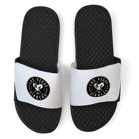 White Slide Sandal - Las Vegas Sinners Logo