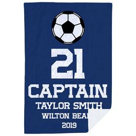 Soccer Premium Blanket - Personalized Captain