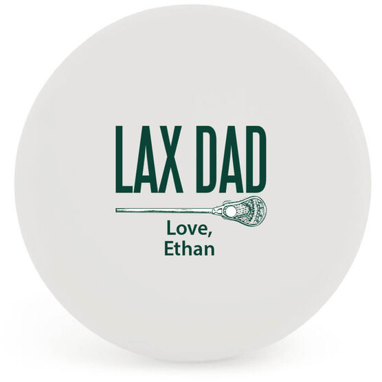 Personalized Lacrosse 'DAD' Ball (White Ball)