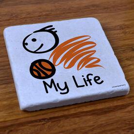 My Life Basketball (Male) - Stone Coaster