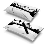 Snowboarding Pillowcase Set - Halfpipe Snowboard