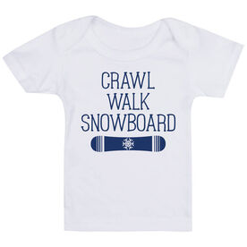 Snowboarding Baby T-Shirt - Crawl Walk Snowboard