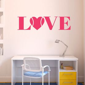 Tennis Removable ChalkTalkGraphix Wall Decal LOVE With Tennis Ball