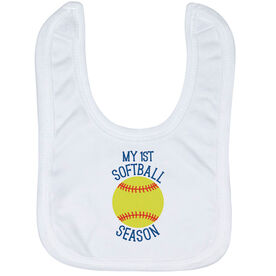 Softball Baby Bib - My First Softball Season