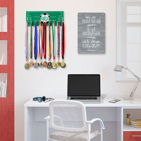 Soccer Hooked on Medals Hanger - Personalized Field