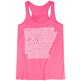 Flowy Racerback Tank Top - Arkansas