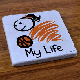My Life Basketball (Female) - Stone Coaster