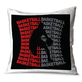 Basketball Throw Pillow All Basketball