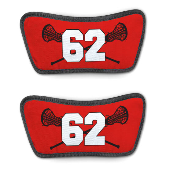 Girls Lacrosse Repwell® Sandal Straps - Crossed Sticks with Number