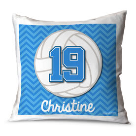 Volleyball Throw Pillow Personalized Volleyball With Chevron