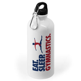 Gymnastics 20 oz. Stainless Steel Water Bottle - Eat. Sleep. Gymnastics.