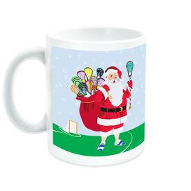 Guys Lacrosse Coffee Mug Santa