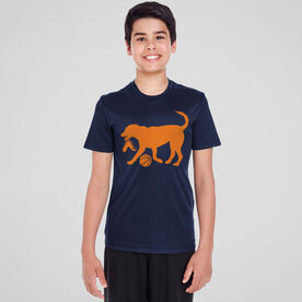 Basketball Short Sleeve Performance Tee - Baxter The Basketball Dog