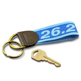 26.2 Marathon Runners Key Fob (Royal Blue/Light Blue)