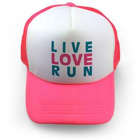 Running Trucker Hat Live Love Run